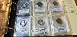 100 Coin Proof State Quarter Silver & Clad Collection PCGS Flag Set PR 69 DCAM