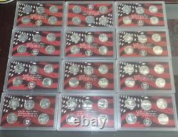 12 State Silver Quarter Proof Sets. No Boxes Or COAs $15 Dollars 90% Silver