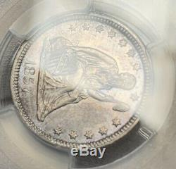 1857 25c PCGS MS-61 Seated Liberty Quarter Mint State Beautiful Lustrous Coin