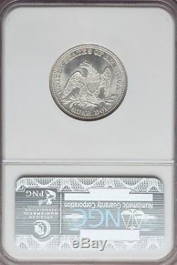 1858 Liberty Seated Silver Quarter Ngc Ms64 Mint State 64 White Blazer