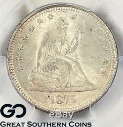 1875 PCGS MS 63 Seated Liberty Quarter PCGS Mint State 63 Tougher This Nice