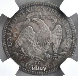 1876 CC Seated Quarter Dollar Silver 25c NGC AU Details United States