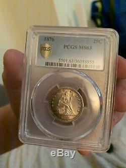 1876 PCGS MS 63 Seated Liberty Quarter PCGS Mint State 63 Collector Date