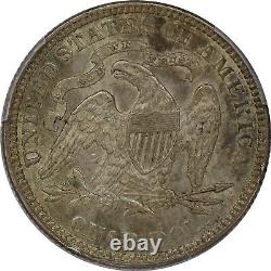 1876 PCGS Silver Seated Liberty Quarter MS62 Mint State UNC Tough Coin