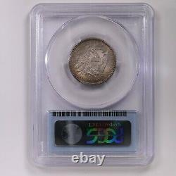 1876 Seated Liberty 25C PCGS CAC Certified MS65 Mint State Graded Silver Quarter