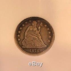 1878-CC Seated Liberty Quarter Extra Fine
