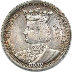 1893 Isabella Quarter, Mint State, 25c C00052316