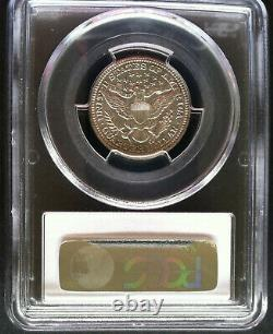 1904 Barber Quarter 25c PCGS Mint State MS 62 White Lustrous Coin
