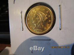 1905-P 2 1/2 Gold Quarter Eagle Mint State +++++
