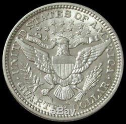 1908 O Silver United States Barber Quarter Coin Au