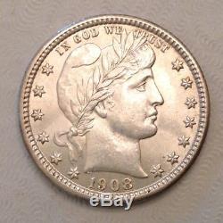 - 1908 United States Barber Quarter