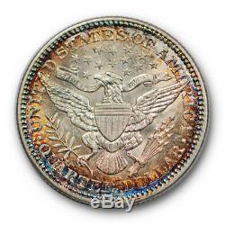 1915 D 25C Barber Quarter Uncirculated Mint State Rainbow Toned #3468