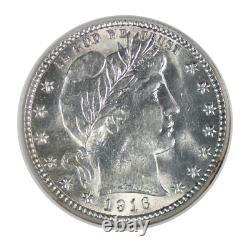 1916 Barber Quarter Mint State