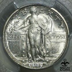 1916 United States Standing Liberty 25c Silver Quarter PCGS MS64FH FULL HEAD