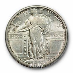 1917 D 25C Type 1 Standing Liberty Quarter Uncirculated Mint State #5106