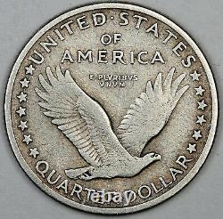 1917-D United States Standing Liberty Quarter 25c VF Very Fine Type 1