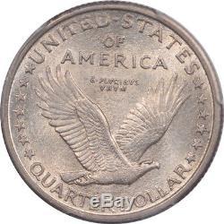 1917 Ty I Standing Liberty Quarter Pcgs Au-58, Premium Quality, Looks Mint State