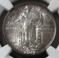 1917 Type 1 Standing Liberty Quarter 25c Slq Coin Ngc Mint State 64+ Fh