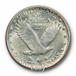 1918 S 25C Standing Liberty Quarter Uncirculated Mint State Lustrous #2636