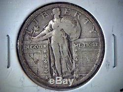 1921 P United States Standing Liberty Quarter, Nice Coin, Silver, Rare