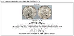 1925US United States Standing LIBERTY Silver Quarter Dollar 25 Cents Coin i89054