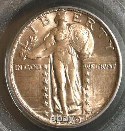 1929 Standing Liberty Quarter 25c PCGS Mint State MS 63 Nice & Original