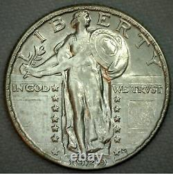1929 Uncirculated Silver Liberty Standing United States Quarter 25c US Coin K78