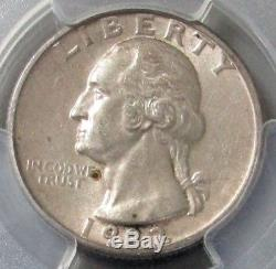 1932 D Silver United States Washington Quarter 25c Coin Pcgs About Unc 58