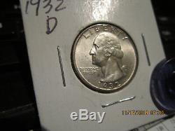 1932-D Washington Quarter Mint State +++++