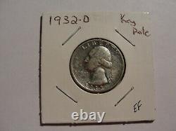 1932-d United States Washington Quarter (key Date) A1466-67