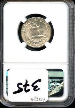 1937 S 25c Ngc Ms 64 Cac (mint State 64) Washington Quarter Sh250