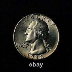 1938 25c Washington Silver Quarter Bu United States Coin