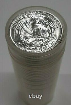 1955-D United States Roll of BU Silver Washington Quarters 40 Coins Total