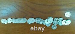 1964 United States Roll of Proof Silver Washington Quarters 40 Coins Total