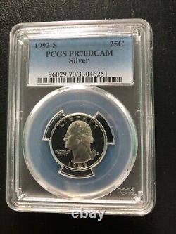 1992 S 25c Silver Ngc- Pr-70dcam Rare