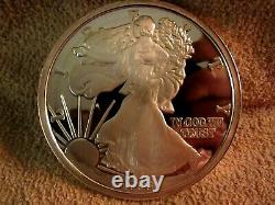 1996 One Troy Pound. 999 Fine Proof Silver Eagle Reeded Edge Limited Edition