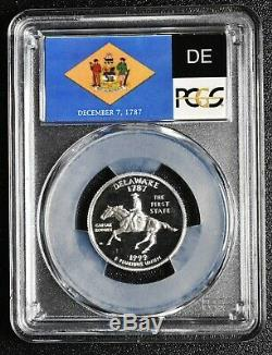 1999S 25¢ Delaware SILVER State Quarter Proof PCGS PR70DCAM Coin SKU C91