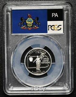 1999S 25¢ Pennsylvania SILVER State Quarter Proof PCGS PR70DCAM Coin SKU C92