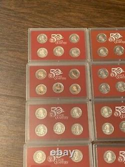 1999 2000 2001 2002 2003 2004 2005 2006 2007 2008 2009 Silver Proof Quarter Sets