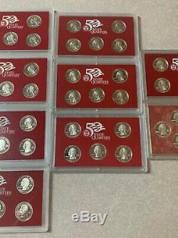 1999 2000 2003 2004 2005 2006 2007 2008 2009 Silver Proof Quarter Sets