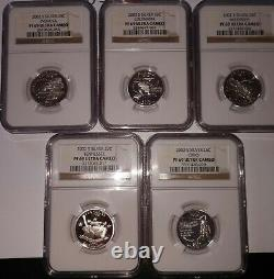 1999-2002 S Silver Proof Statehood Quarter Sets NGC PF69 Ultra Cameo 20 Coins