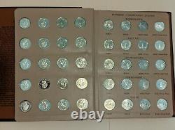 1999-2003 Dansco State Quarters 90% Silver P/D/S/S 25c Complete Set 100 Coins