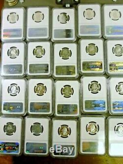 1999 2006 Silver State Quarters All 40 Are NGC PF69 Ultra Cameo With2 NGC Boxes