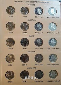 1999 2006 Washington Quarters Statehood Commemorative Sets with Proof & Silver