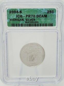 1999-2007 State Silver Proof Quarter ICG PR70 DCAM Green Label COMPLETE SET