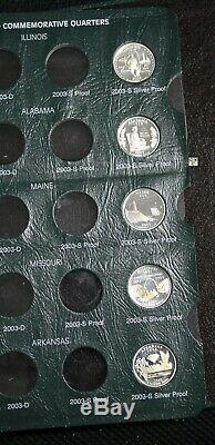 1999-2008Complete set of 50 Proof. 900 fine Silver 25ct coins in 2 deluxe albums