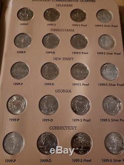 1999-2008 184 Coin Washington Statehood Quarters withSilver Proofs 2 Dansco Album