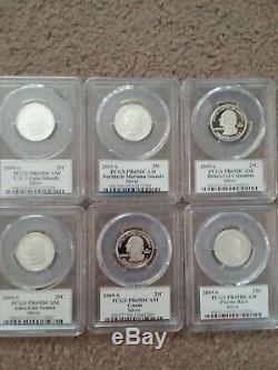 1999 2008 + 2009 S Silver Proof State Quarter Set PCGS PR69DCAM 56 Coins