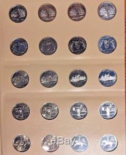 1999-2008 200 Coin Washington Statehood Quarters withSilver Proofs in Dansco Album