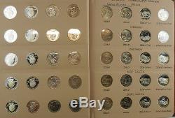 1999-2008 200 Washington Statehood Quarters BU/Silver Proof Dansco Albums C6